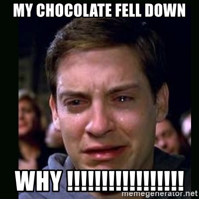 crying peter parker - MY CHOCOLATE FELL DOWN WHY !!!!!!!!!!!!!!!!!