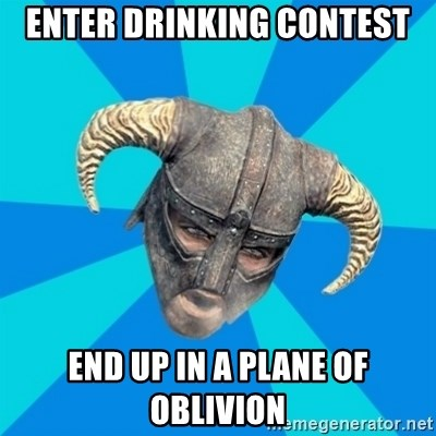 skyrim stan - enter drinking contest end up in a plane of oblivion