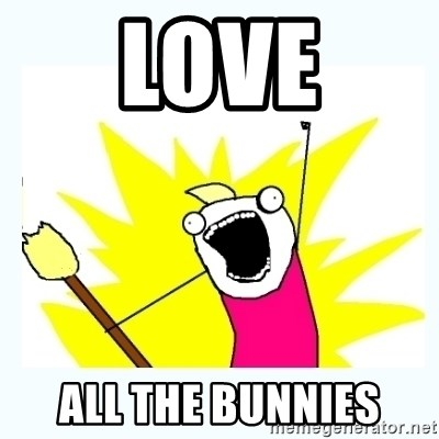 All the things - love all the bunnies