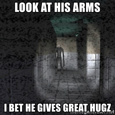 Slender game - Look at his arms I bet he gives great hugz