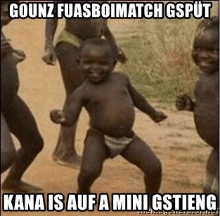 Third World Success - gounz fuasboimatch gspüt kana is auf a mini gstieng