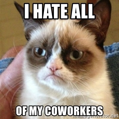 Grumpy Cat  - I hate all of my coworkers