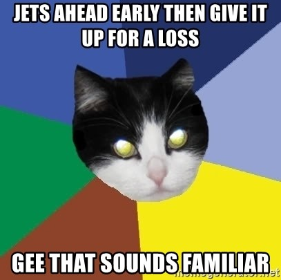 Winnipeg Cat - Jets ahead early then give it up for a loss Gee that sounds familiar