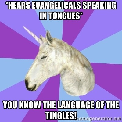 ASMR Unicorn - *Hears evangelicals speaking in tongues* you know the language of the tingles!