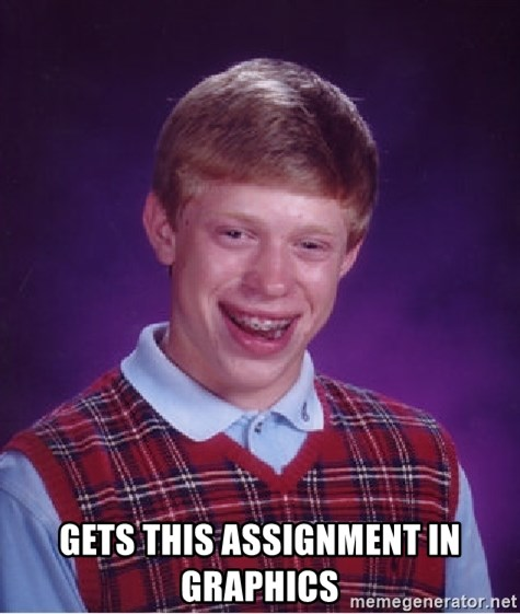 Bad Luck Brian -  gets this assignment in graphics