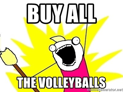 X ALL THE THINGS - buy all  the volleyballs