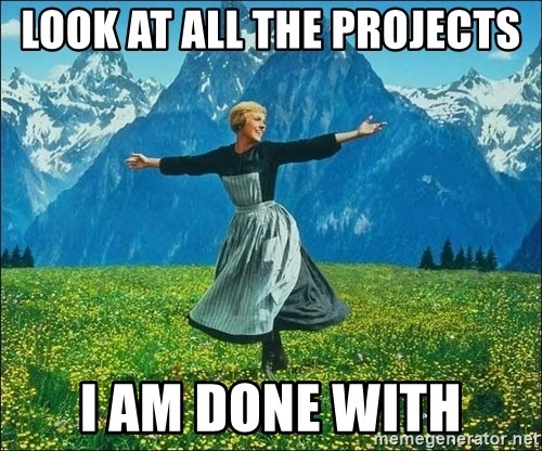 Look at all the things - lOOK AT ALL THE PROJECTS i AM DONE WITH
