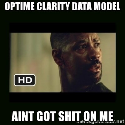 Alonzo Training Day - Optime clarity data model aint got shit on me