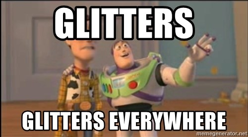 X, X Everywhere  - Glitters Glitters everywhere