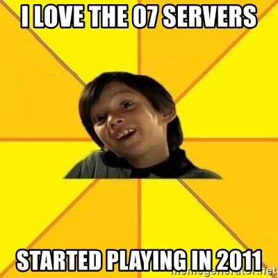 es bakans - I love the 07 servers Started playing in 2011