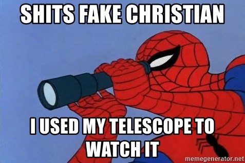 Spiderman Lunar Eclipse - SHITS FAKE CHRISTIAN I USED MY TELESCOPE TO WATCH IT
