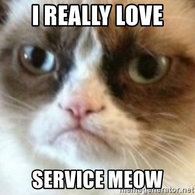angry cat asshole - I Really Love Service Meow