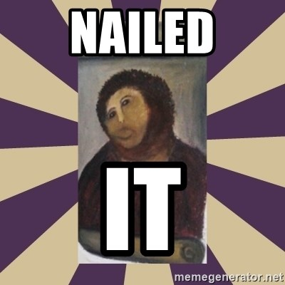 Retouched Ecce Homo - Nailed It