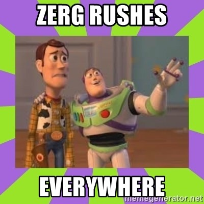 X, X Everywhere  - Zerg rushes Everywhere