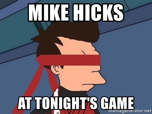 fryshi - MIKE HICKS  AT TONIGHT'S GAME