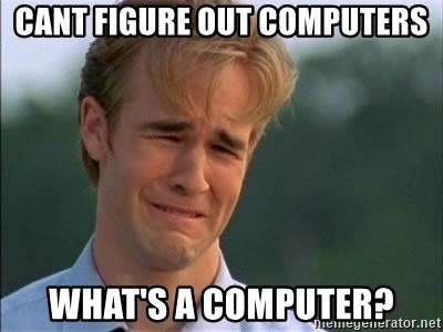 James Van Der Beek - cant figure out computers what's a computer?
