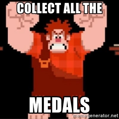 Wreck-It Ralph  - COLLECT ALL THE medals