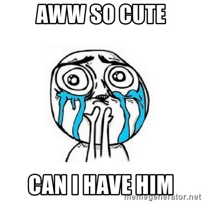 Crying face - AWW SO CUTE CAN I HAVE HIM