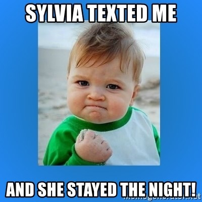 yes baby 2 - Sylvia Texted me And she stayed the night!