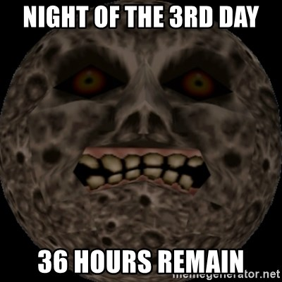 majoras mask moon - night of the 3rd day 36 hours remain