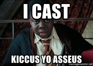Harry Potter Black Kid - i cast kiccus yo asseus