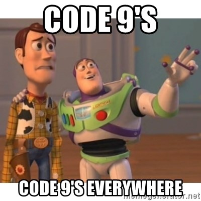 Toy story - Code 9's Code 9's everywhere