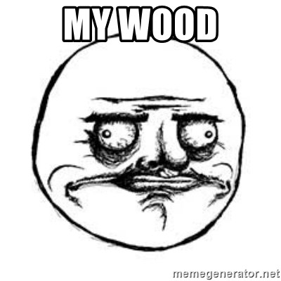 Me Gusta face - My wood