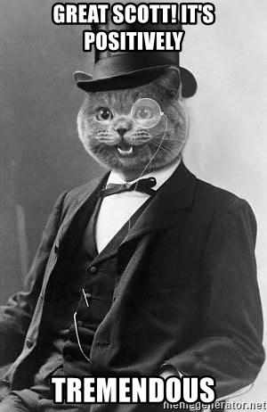 Monocle Cat - great scott! IT'S POSITIVELY tremendous