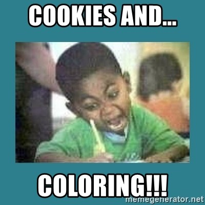 I love coloring kid - cookies and...  COLORING!!!