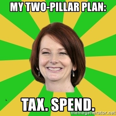 Julia Gillard - MY TWO-Pillar Plan: Tax. SPend.