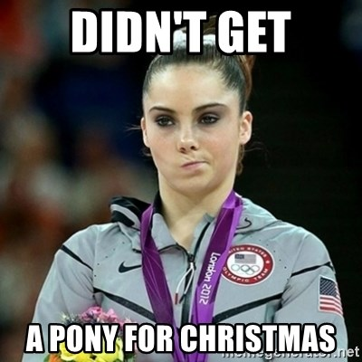 Not Impressed McKayla - DIDN'T GET A PONY FOR CHRISTMAS