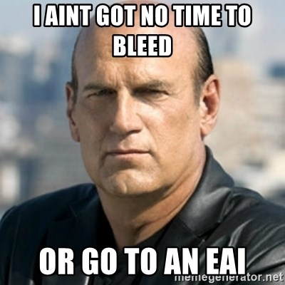 Jesse Ventura - I aint got no time to bleed Or go to an EAI