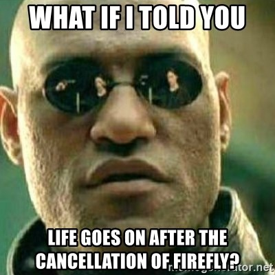What If I Told You - What if I told you Life goes on after the CANCELLATION of firefly?