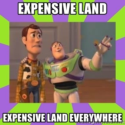 X, X Everywhere  - Expensive land Expensive land everywhere