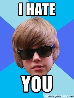 Just Another Justin Bieber - I HATE YOU