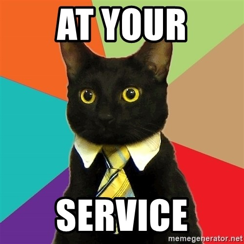 Business Cat - at your service