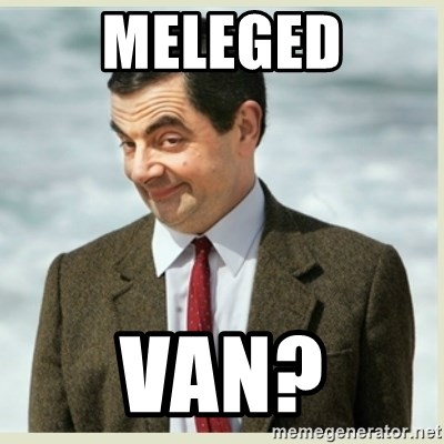 MR bean - meleged van?