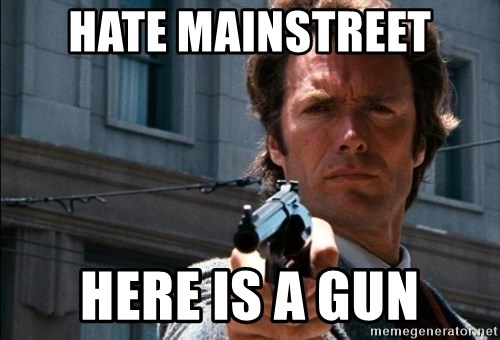 Dirty Harry - hate mainstreet here is a gun