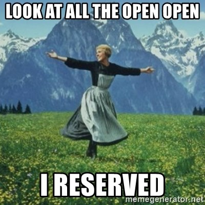 sound of music - Look at All the Open open I reserved