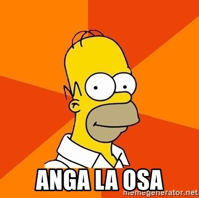Homer Advice -  ANGA LA OSA