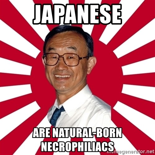 Crazy Perverted Japanese Businessman - japanese are natural-born necrophiliacs