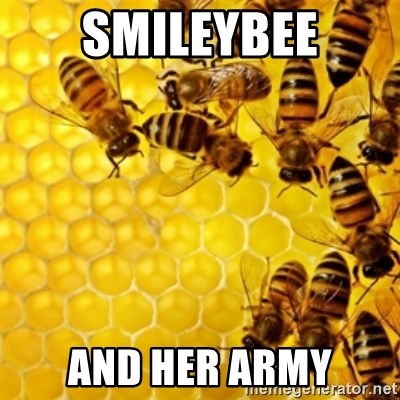 Honeybees - smileybee and her army