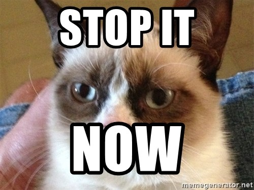 Angry Cat Meme - STOP IT NOW