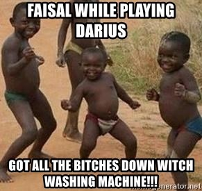 african children dancing - FAISAL WHILE PLAYING DARIUS GOT ALL THE BITCHES DOWN WITCH WASHING MACHINE!!!