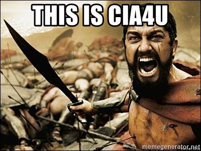 This Is Sparta Meme - thIS IS CIA4U