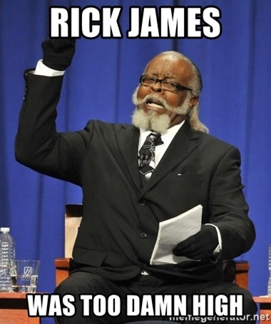 Jimmy Mcmillan - rick james  was too damn high