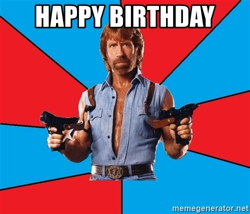 Chuck Norris  - Happy Birthday
