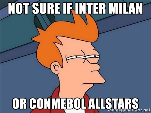 Futurama Fry - Not sure if inter milan or conmebol allstars