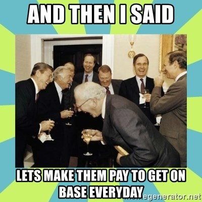 reagan white house laughing - And then i said lets make them pay to get on base everyday