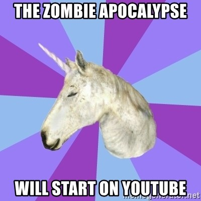 ASMR Unicorn - The zombie apocalypse will start on youtube